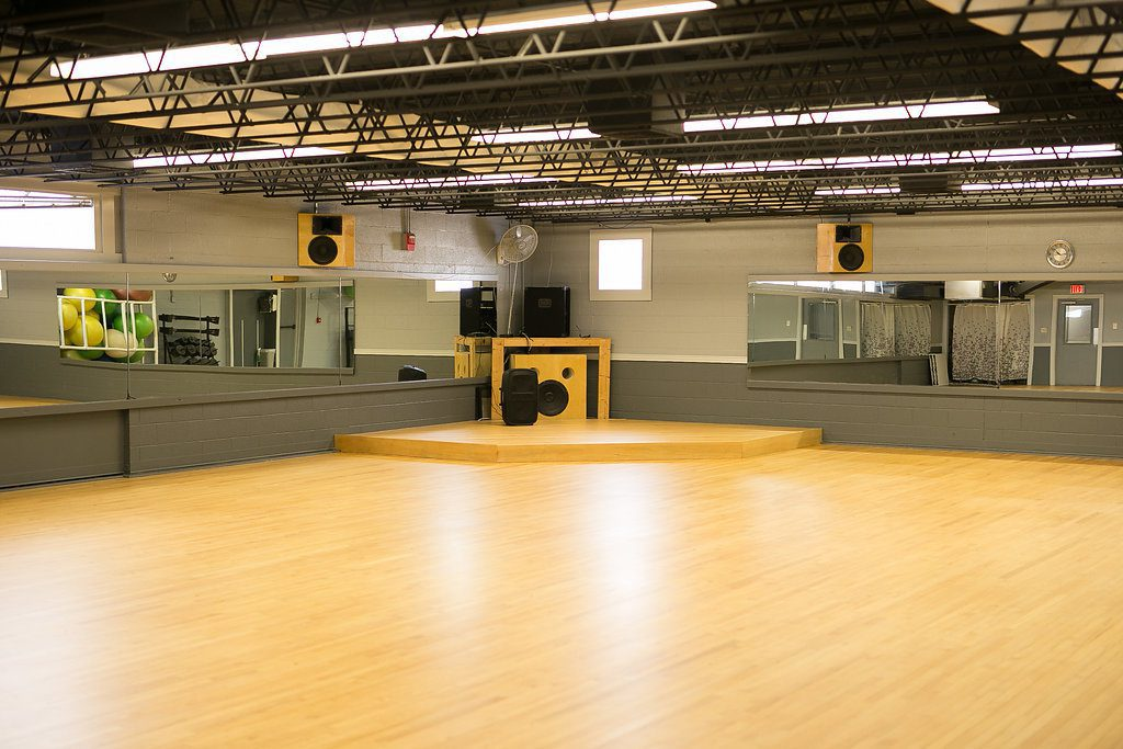 Our large gym space open for group exercise classes